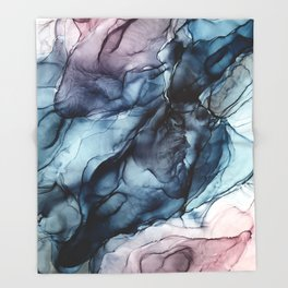 Blush and Darkness Abstract Paintings Throw Blanket