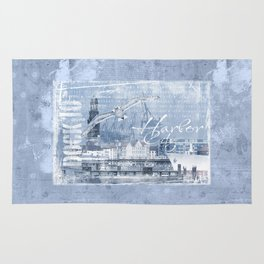 Harbor City Hamburg Germany mixed media Art Rug