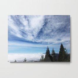 Cloudy Day in Lake Arrowhead Metal Print