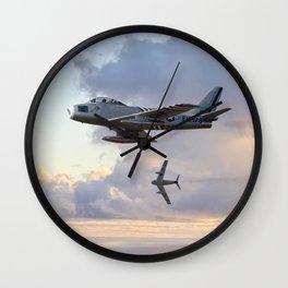 F-86 Sabres Wall Clock