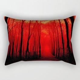 Misty Red Forest Rectangular Pillow