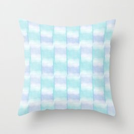 Watercolor Cubes Throw Pillow