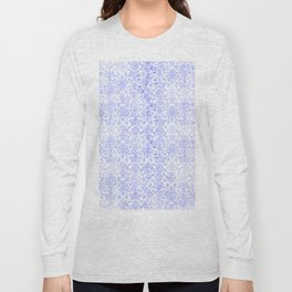 Periwinkle Damask Long Sleeve T-shirt