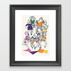 8 Tees Party! Framed Art Print