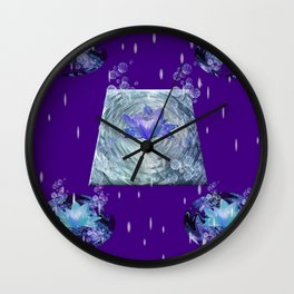 Water Lily Rain Wall Clock