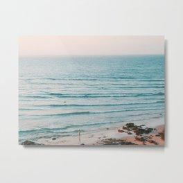 Byron Bay Sunset Surf Metal Print