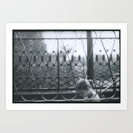 Girl Walking Art Print
