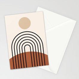 Abstraction_SUN_LINE_BOHEMIAN_LANDSCAPE_POP_ART_1129B Stationery Cards