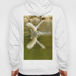The heron lays on the placid river... Hoody