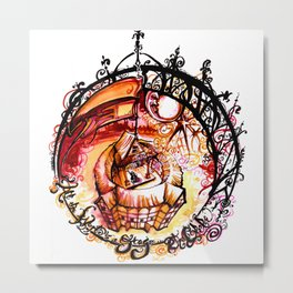 The Globe Theatre - All the World's A Stage Illustration Metal Print