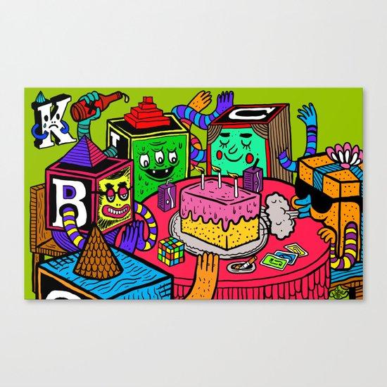 """""""Block Party"""" by Steven Fiche Canvas Print"""