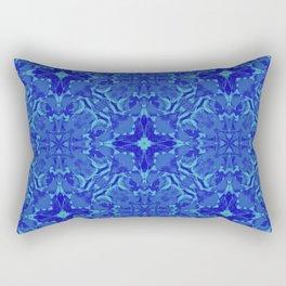 blue gradient flower Rectangular Pillow
