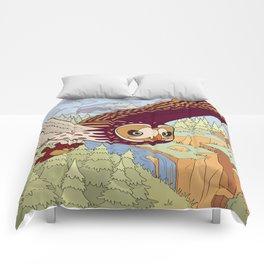 Short-eared Owl with Teddy Bear Comforters