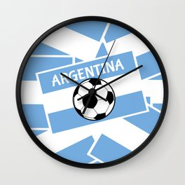 Argentina Football Wall Clock