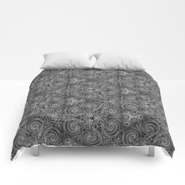 Gray Swirl Pattern Comforters