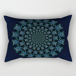 Tribal Turtle Tunnel Rectangular Pillow