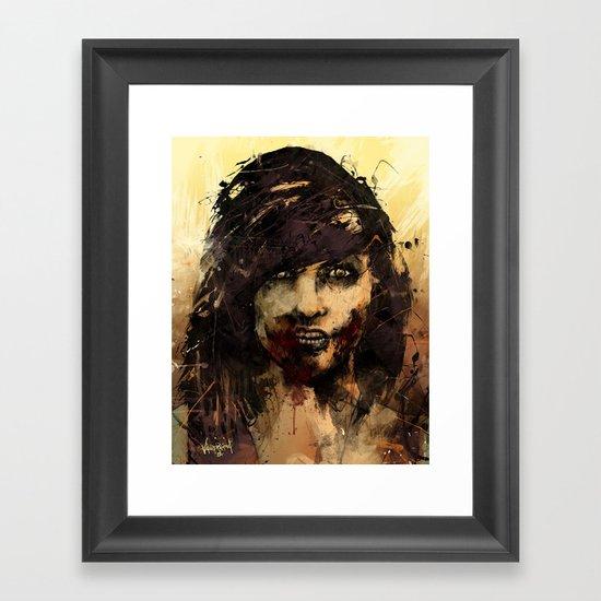 Female Zombie Framed Art Print