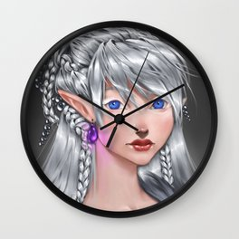 The White Mage Wall Clock