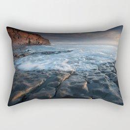 Nash Point, south wales, UK. Rectangular Pillow