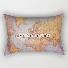 wanderlust map Rectangular Pillow