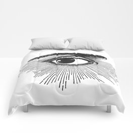 I See You. Black and White Comforters