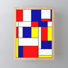 Mondrian #38 Framed Mini Art Print