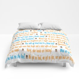Dumb and Dumber Quotes Comforters
