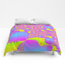 trippy blessing day fractal 1 Comforters