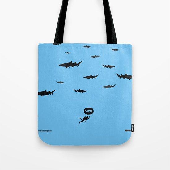 WTF? Tiburones! Tote Bag