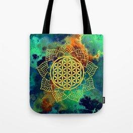 Flower Of Life (Batik 12) Tote Bag