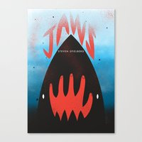 jaws Canvas Prints featuring JAWS by Wharton