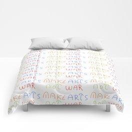 make art not war-anti-war,pacifist,pacifism,art,artist,arte,paz,humanities Comforters