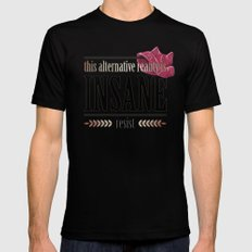 This Alternative Reality MEDIUM Black Mens Fitted Tee