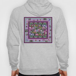 Rectangle and Flower Photos Composite - Decorative Hoody