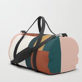 Spring Color Block Duffle Bag
