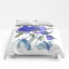 Bluest Blue Bloom Comforters