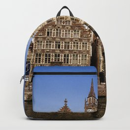 Photo Belgium Gent Canal Waterfront Houses Cities Building Backpack