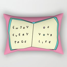 Words from a Colorful Book - inspirational quote illustration Rectangular Pillow