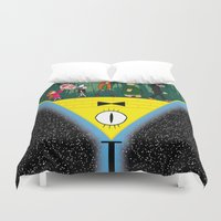 gravity falls Duvet Covers featuring Gravity Falls by itspronouncedDEE-ANN-UH