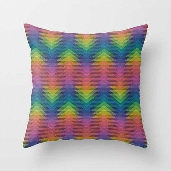 Triangular Entropy Throw Pillow