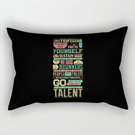 Lab No. 4 Getting Ahead Sophia Loren Motivational Quotes Rectangular Pillow