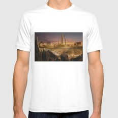 Red City White Mens Fitted Tee MEDIUM