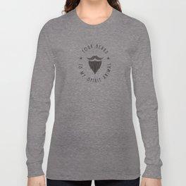 Foul Mouth :: Your Beard Is My Spirit Animal Long Sleeve T-shirt