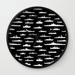 Battleship // Black Wall Clock