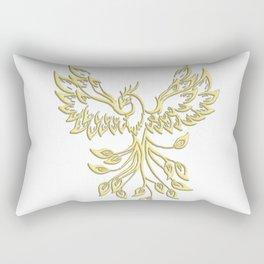 Golden Phoenix Rising Rectangular Pillow