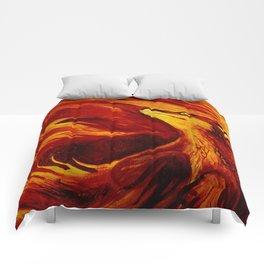 Fire's Embrace Comforters