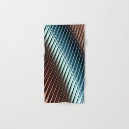 Stripey Pins Teal & Taupe - Fractal Art Hand & Bath Towel