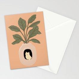 Hidden cat 11 penthouse plants house Stationery Cards