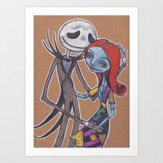 Jack and Sally Art Print