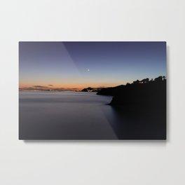 Dark moonlight mediterranean sunset Metal Print